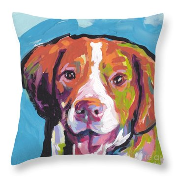 Bright Brit Throw Pillow by Lea S