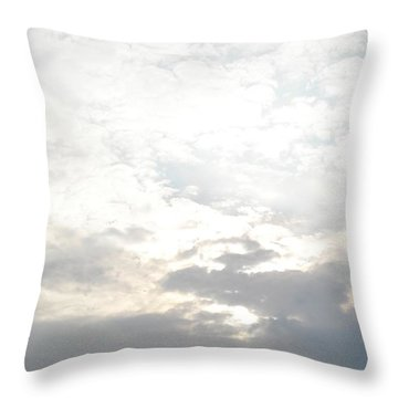 Bright Clouds Throw Pillow