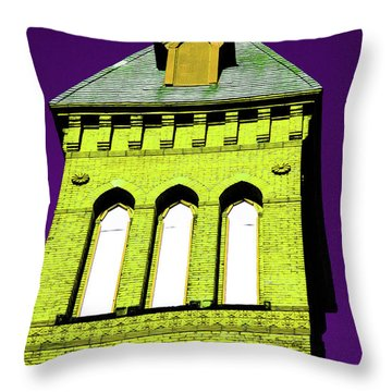 Bright Cross Tower Throw Pillow by Karol Livote