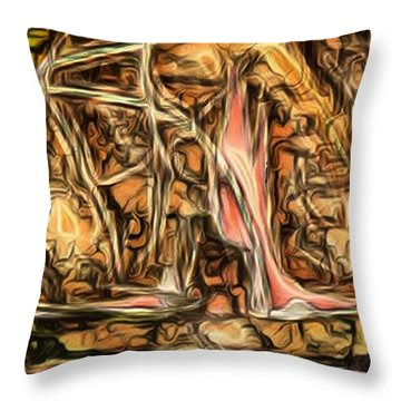 Bright Gloomy Roar Oar  Throw Pillow