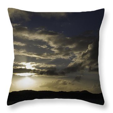 Bright Horizon Throw Pillow by Judy Hall-Folde