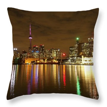 Bright Lights Big City Throw Pillow by Lingfai Leung