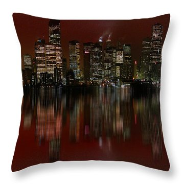 Bright Lights Throw Pillow by Stuart Turnbull