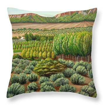 Bright Morning In Alcudia Throw Pillow