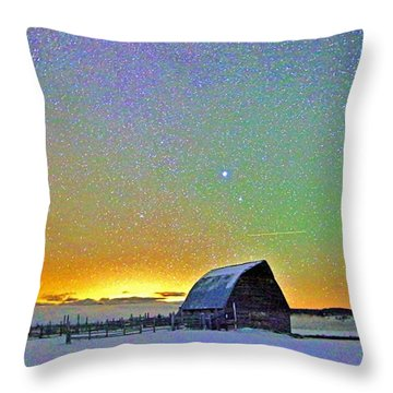 Bright Night Throw Pillow by Matt Helm