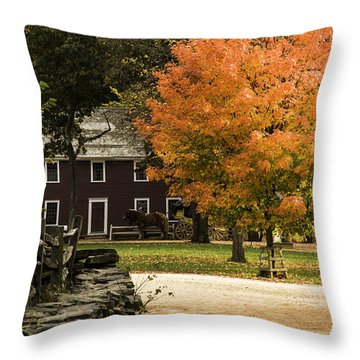 Throw Pillow featuring the photograph Bright Orange Autumn by Jeff Folger