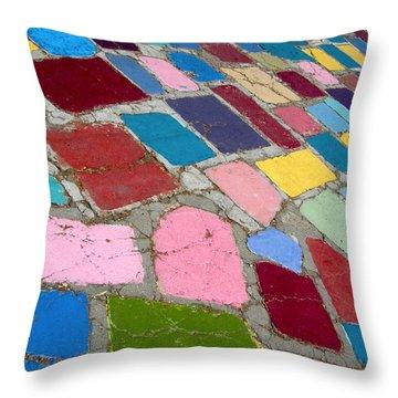 Bright Paving Stones Throw Pillow