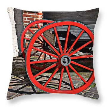 Throw Pillow featuring the photograph Bright Red by Linda Brown