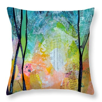 Bright Skies For Dark Days I Throw Pillow