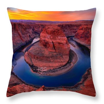Bright Skies Over Horseshoe Throw Pillow