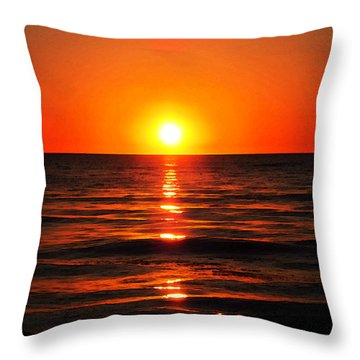 Bright Skies - Sunset Art By Sharon Cummings Throw Pillow