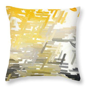 Bright Slashes Throw Pillow