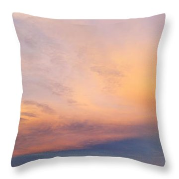 Bright Sunset Sky Throw Pillow by Les Cunliffe