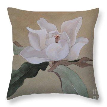 Bright White Throw Pillow by Nancy Kane Chapman