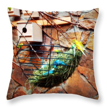 Bright Wings Throw Pillow