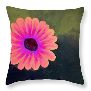 Throw Pillow featuring the painting Brighten My Day by Elizabeth Sullivan