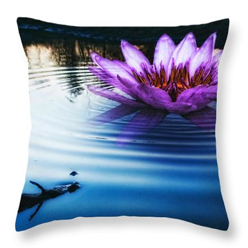Brighter Than Stars Throw Pillow by Mo T