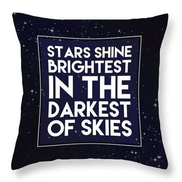 Brightest Stars Throw Pillow