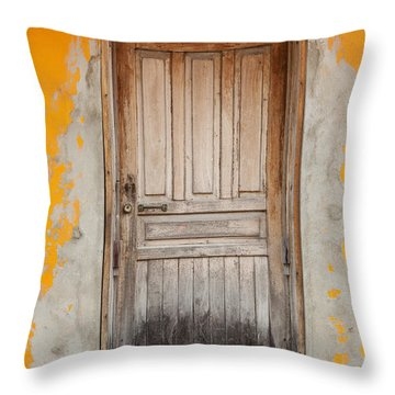 Brightly Colored Door And Wall Throw Pillow