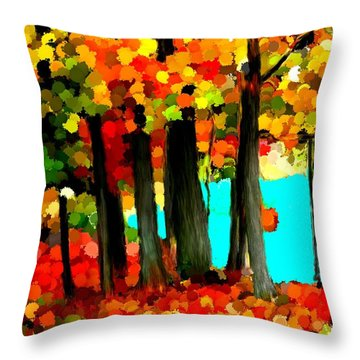 Brightness In The Forest Throw Pillow by Bruce Nutting