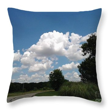 Brilliant Clouds Throw Pillow by Susan Williams