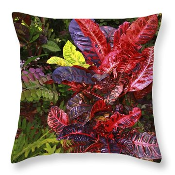 Brilliant Colors Of Leaves Throw Pillow