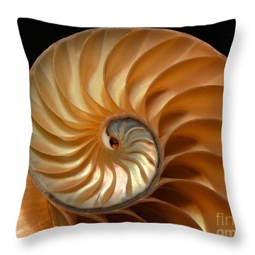 Brilliant Nautilus Throw Pillow