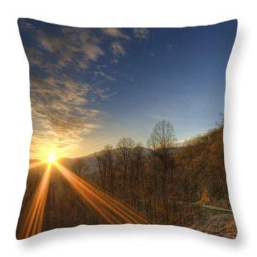 Brilliant Rays Throw Pillow