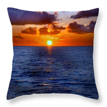 Brilliant Sunset Throw Pillow by Donna Proctor