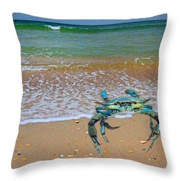 Brilliant Vivid Life Creatures Throw Pillow by Betsy Knapp