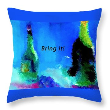 Throw Pillow featuring the painting Bring It by Lisa Kaiser