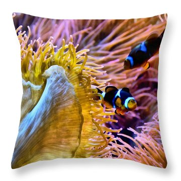 Bring Out The Clowns Throw Pillow by Angelina Vick