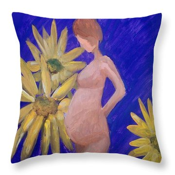 Throw Pillow featuring the painting Bringer Of Life by Marisela Mungia