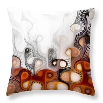 Throw Pillow featuring the digital art Bringers Of Prophecy by NirvanaBlues