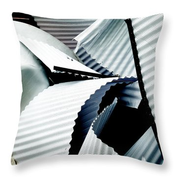 Bringing Down The Roof Throw Pillow by Steve Taylor