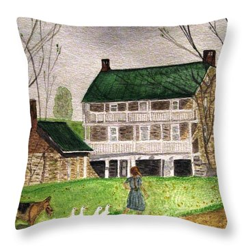 Bringing Home The Ducks Throw Pillow