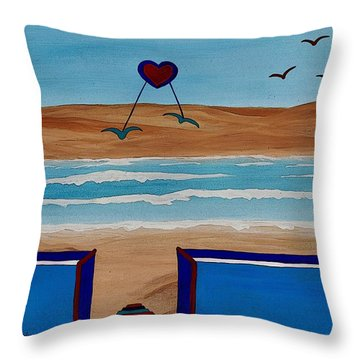 Bringing The Heart Home Throw Pillow by Barbara St Jean