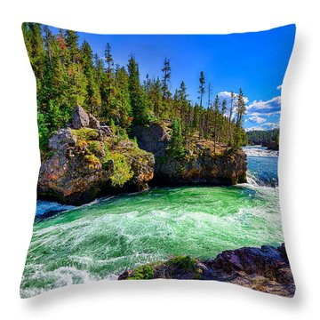Brink Of Upper Falls Throw Pillow