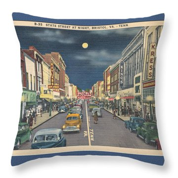 Bristol At Night In The 1940's Throw Pillow