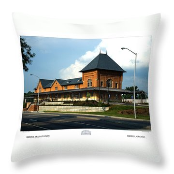 Bristol Train Station Bristol Virginia Throw Pillow