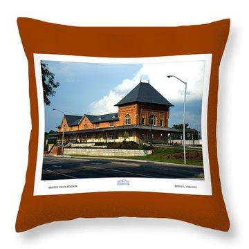 Bristol Train Station Bristol Virginia Throw Pillow