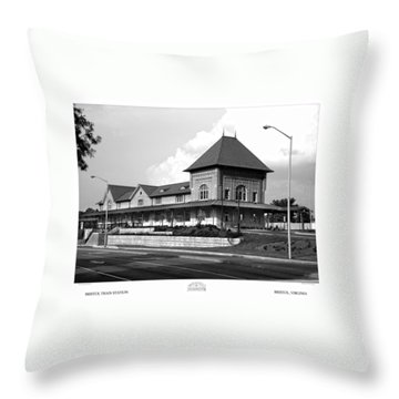 Bristol Train Station Bw Throw Pillow