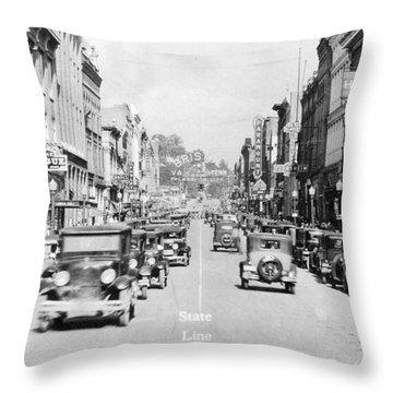 Bristol Virginia Tennessee State Street 1931 Throw Pillow