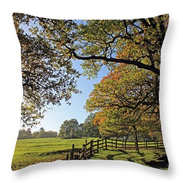 British Autumn Throw Pillow
