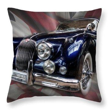 British Cat Throw Pillow