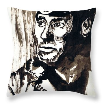 British Coal Miner Throw Pillow by Seth Weaver