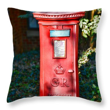 British Mail Box Throw Pillow by Paul Ward