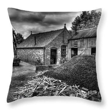 British Mine Throw Pillow by Adrian Evans