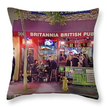 British Pub Throw Pillow