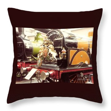 British Royal Engine Throw Pillow